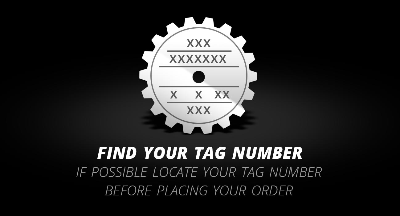 BW1356 Transfer Case Tag Number